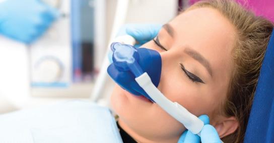 patient receiving nitrous oxide