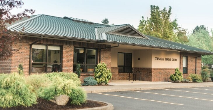 front of Corvallis Dental Group office